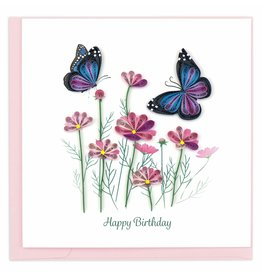 Quilling Card Quilled Birthday Flowers And Butterflies Greeting Card
