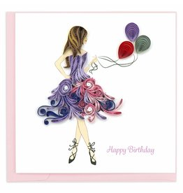 Quilling Card Quilled Birthday Girl Greeting Card