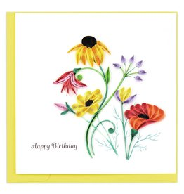 Quilling Card Quilled Wildflower Birthday Blooms Greeting Card