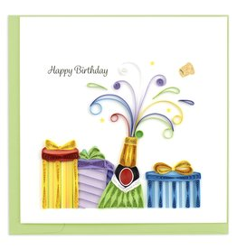 Quilling Card Quilled Birthday Champagne Greeting Card