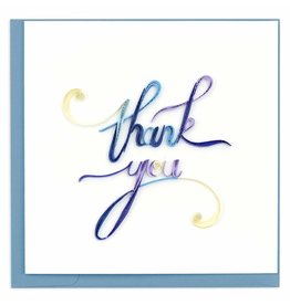 Quilling Card Quilled Thank You Script Greeting Card