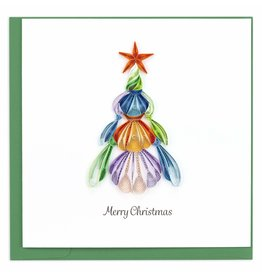 Quilling Card Quilled Seashell Christmas Tree Greeting Card