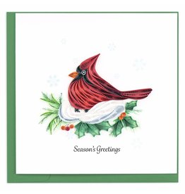 Quilling Card Quilled Red Cardinal Christmas Greeting Card
