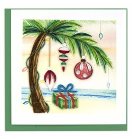 Quilling Card Quilled  Island Holiday Palm Tree Christmas Greeting Card