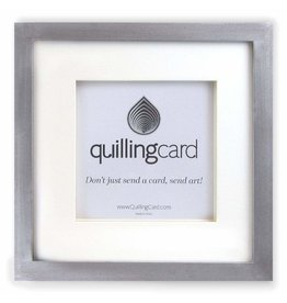 Quilling Card Brushed Silver Shadow Box Square Frame