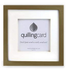 Quilling Card Brushed Gold Shadow Box Square Frame