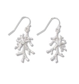 Periwinkle by Barlow Silver Coral Starfish drop Earrings