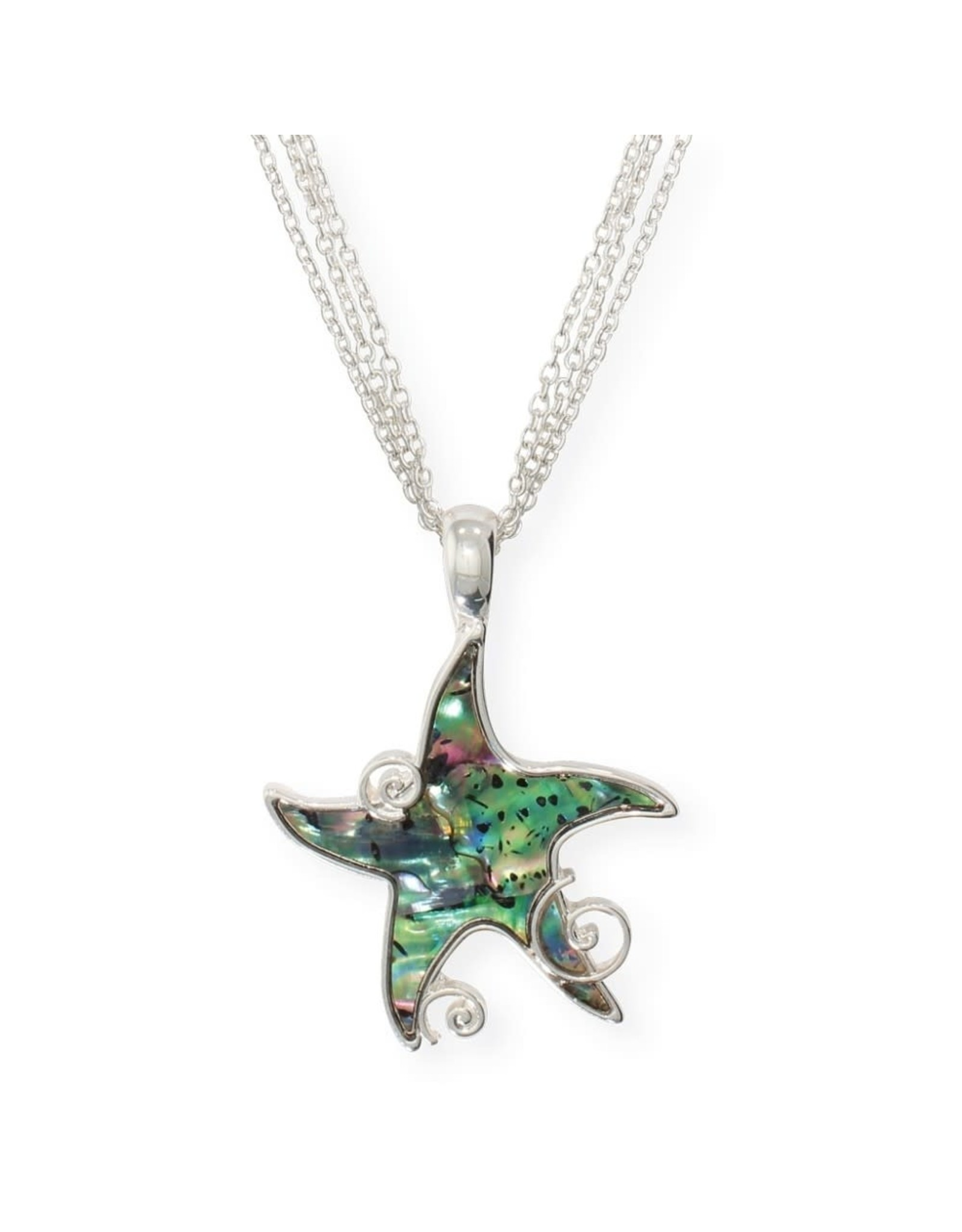 Periwinkle by Barlow 17 Inch Abalone Inlay Starfish Necklace
