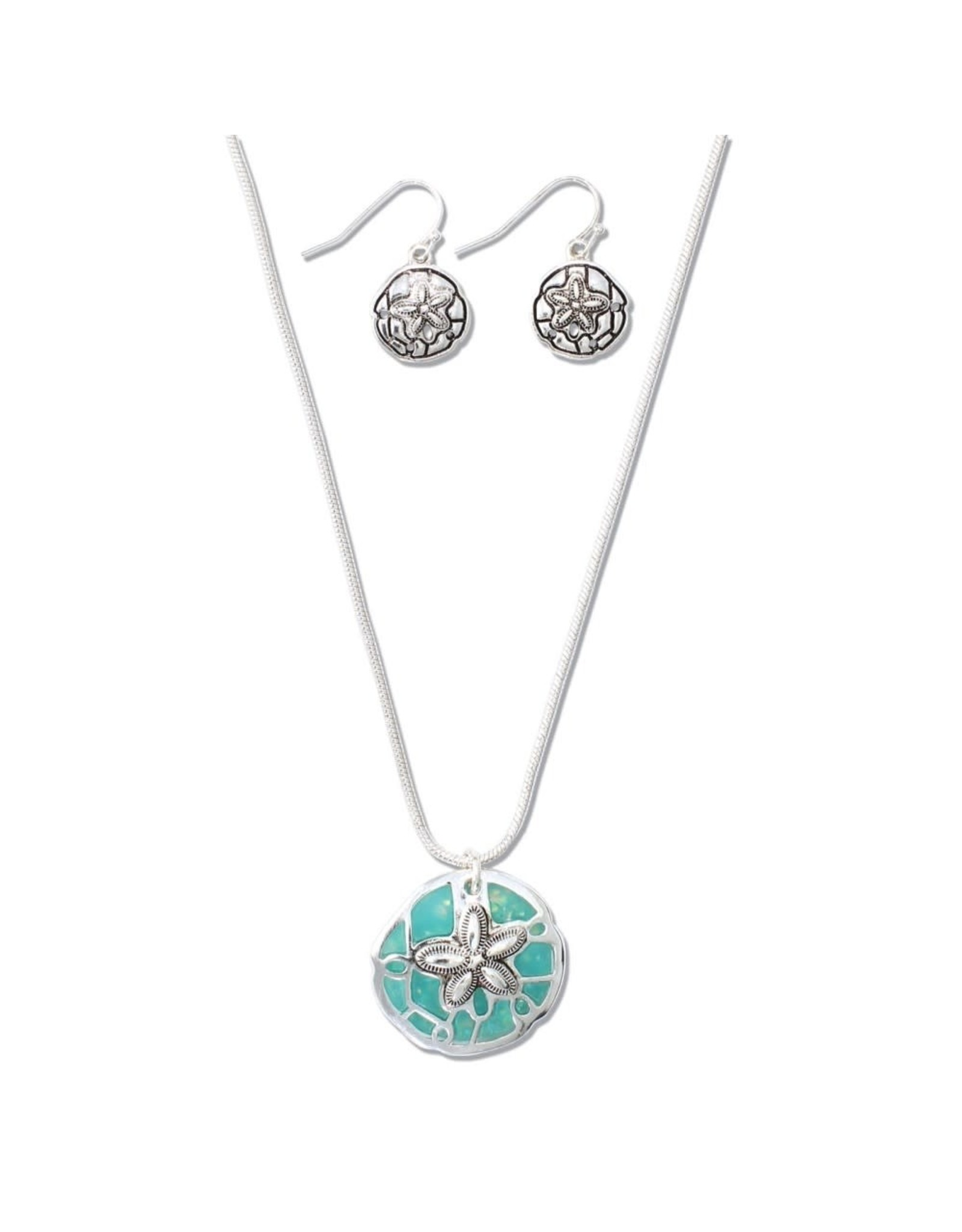 Periwinkle by Barlow 17 Inch Vivid Starfish Turquoise Necklace Set