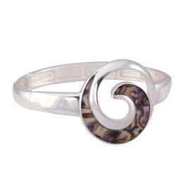 Periwinkle by Barlow Bracelet Silver Abalone Wave
