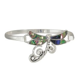 Periwinkle by Barlow Dragonfly Bracelet Abalone Inlay