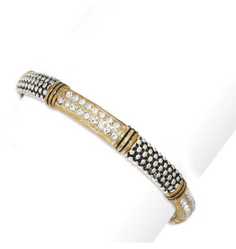 Periwinkle by Barlow Two Tone Crystal Inlay Bracelet-B