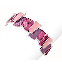 Periwinkle by Barlow Beautiful Pink Enamel Stretch Bracelet