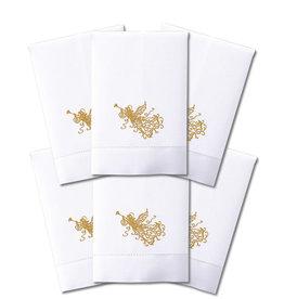 Peking Handicraft Christmas Hand-Guest Towel Embroidered Angel 14x22 Set of 6