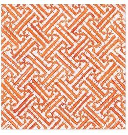 Caspari Paper Cocktail Napkins 20pk Fretwork In Orange