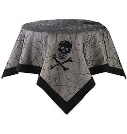 Peking Handicraft Halloween Table Cover Skull Spider Web Table Cover