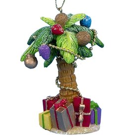 Kurt Adler Palm Tree Ornament W Presents 4.25 Inch - A