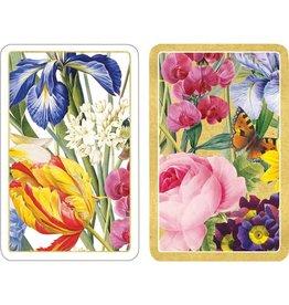 Caspari Playing Cards 2 Decks of Redoute Floral Bridge Cards