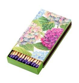 Caspari Hydrangea Match-Box With 40 Match Sticks