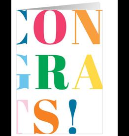 Caspari Congratulations Card CONGRATS Celebrate Your Success