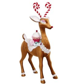 Candied Deer 29H Candy Reindeer Figure