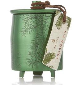 Frasier Fir Medium Green Metal Tin Candle With Lid
