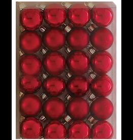Kurt Adler Miniature Shatterproof Ball Ornaments 24pc 30MM Red