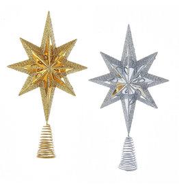 Kurt Adler Christmas Star Burst Tree Topper 6.75 Inch 2 Assorted