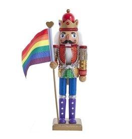Kurt Adler Kurt Adler Gay Pride Nutcracker Holding Pride Flag