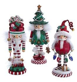 Kurt Adler Hollywood Christmas Hat Nutcrackers 11-12.25 3 Assorted
