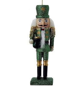 Kurt Adler Wooden Irish Nutcracker Ornament 6 inch
