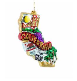 Kurt Adler Glass California Ornament California State Cityscape