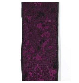 Kurt Adler Purple Woven Double Wire Ribbon 10 Yards