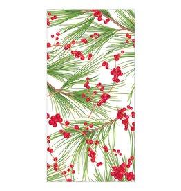 Caspari Christmas Money Holder Cards 4pk Berries And Pine