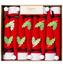 Caspari Santa Hat Cone-Shaped Celebration Cracker 8pk