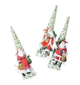 Caspari Woodland Santa Cone-Shaped Celebration Crackers 6pk