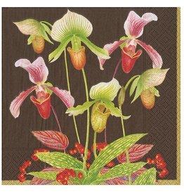 Caspari Paper Cocktail Napkins 20pk Slipper Orchid