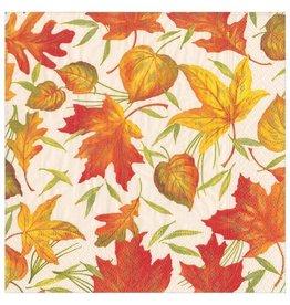 Caspari Fall Thanksgiving Paper Dinner Napkins 20pk Woodland Leaves