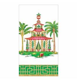 Caspari Christmas Pagodas Guest Towel Napkins 15pk