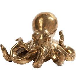 Global Views Ceramic Octopus Sculpture Figurine Matte-Gold