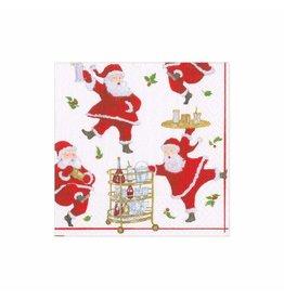 Caspari Christmas Paper Cocktail Napkins 20pk Cocktails With Santas