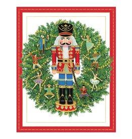 Caspari Boxed Christmas Cards 16pk Nutcracker Wreath