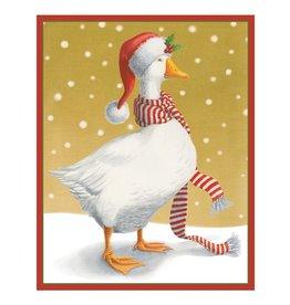Caspari Boxed Christmas Cards 16pk Christmas Goose