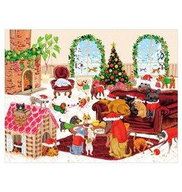 Caspari Pet Christmas Party Large Boxed Christmas Cards 16pk