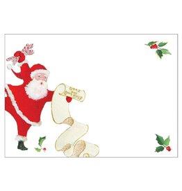 Caspari Self-Adhesive Labels - Name Tags 12pk Dancing Santas