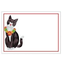 Caspari Self-Adhesive Labels - Name Tags 12pk Caroling Cat