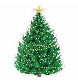 Caspari Ornament Gift Tags 4pk Die-Cut Christmas Tree W Lights