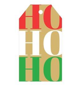 Caspari Classic Hanging Gift Tags 4pk Ho Ho Ho