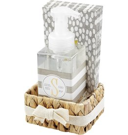 Mud Pie Initial S Hand Soap Paper Hand Towels And Basket Set