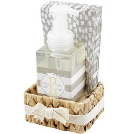 Mud Pie Initial E Hand Soap Paper Hand Towels And Basket Set
